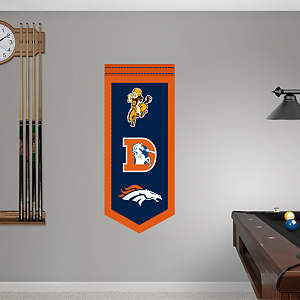 Denver Broncos Logo Evolution Banner Fathead Wall Decal